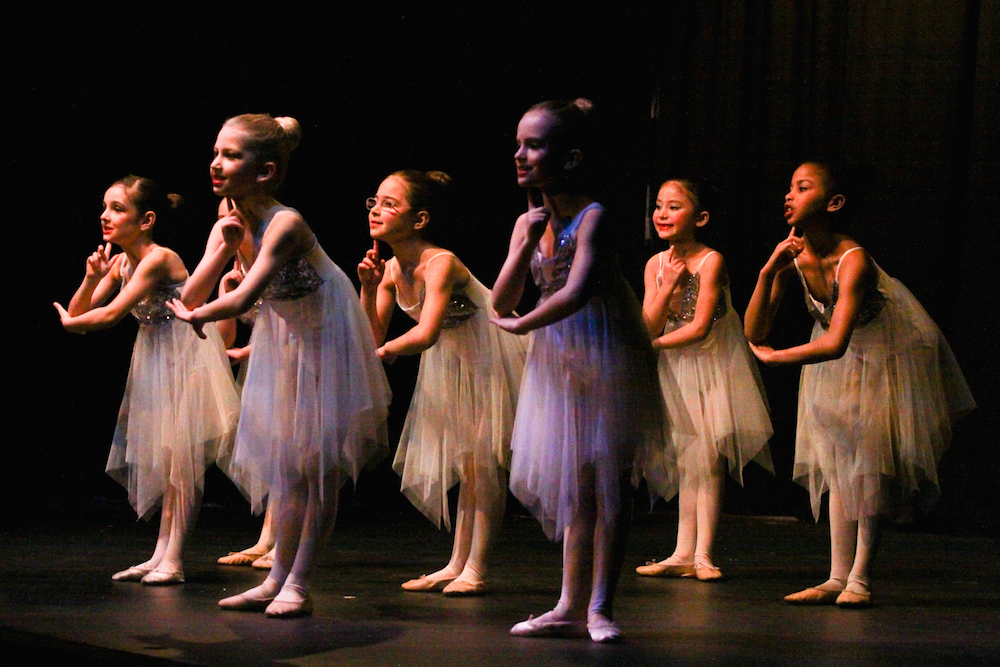 A photo of a ballet performance by Footworks Dance school